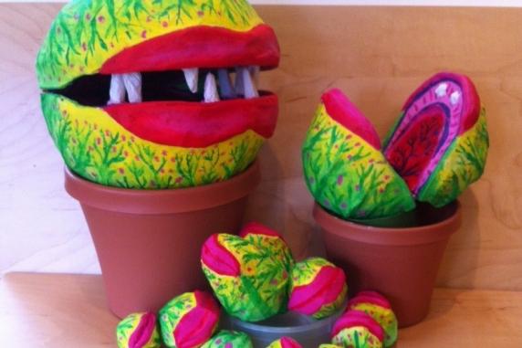 Paper Mâché Shop of Horrors Audrey !!Plants Work in Progress