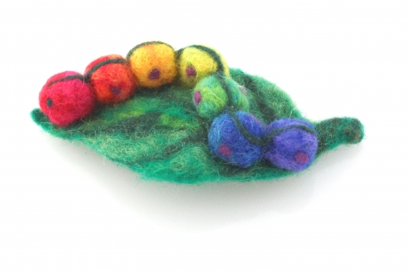 Needle Felted Caterpillar
