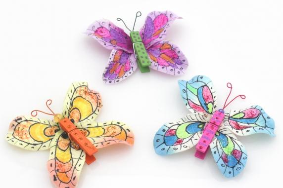Clothespin Flower Petal Butterflies