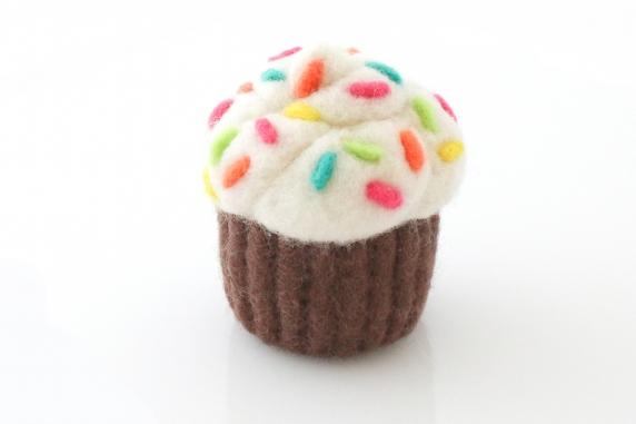 Needle Felted Cupcake