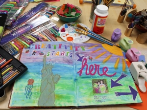Art Journal and Art Supplies