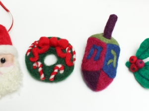 Needle Felted Holiday Accessories
