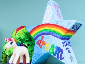 Paper Mâché Star (shown with Needle Felted Unicorn)