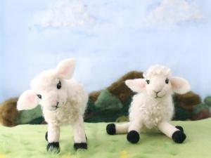 Needle Felted Lambs