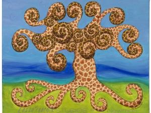Leopard Giraffe Tree