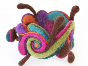 Sculptural Felted Jewelry