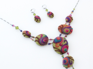 Sassy Swirl Necklace and Earrings