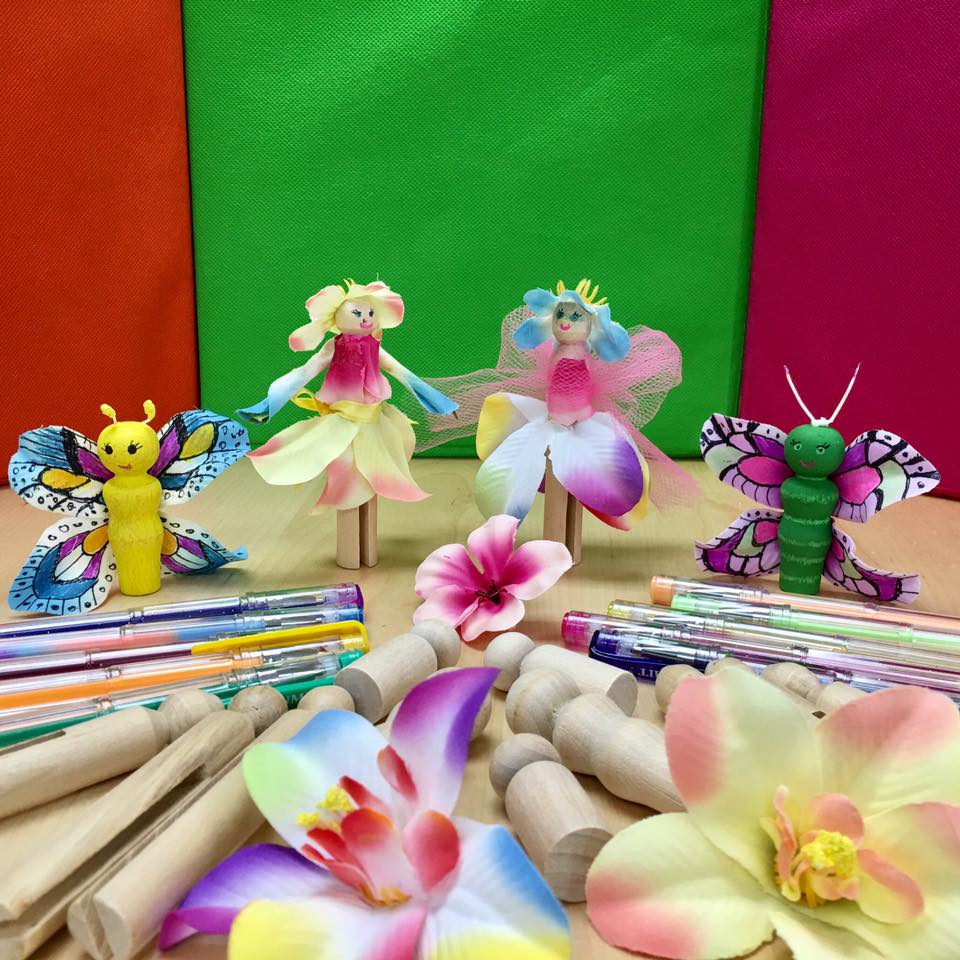Clothespin Fairies and Butterflies