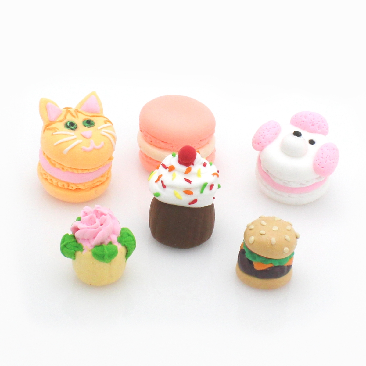 Clay Macarons, Cupcakes and Burger