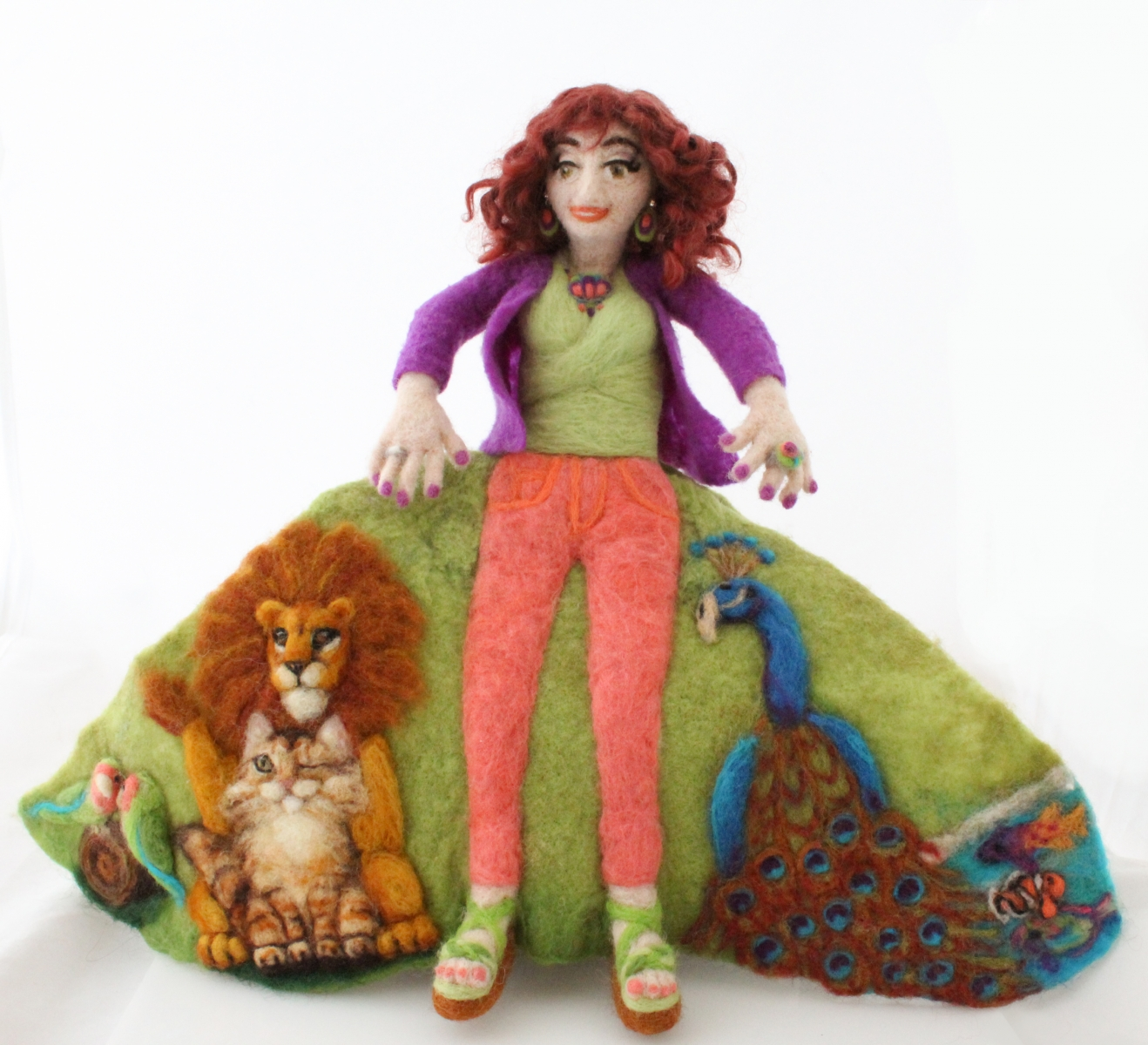 5 Going on 50, Needle Felted Flip Doll © 2017 Jill Newman